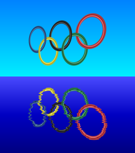 olympic rings reflected